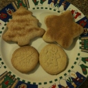 Here are the Sugar (Shortbread) Cookies I made.  The dough worked well with cookie cutters and with the impressions.  Note - keep flour handy... dust on counter surface, rolling pin, and cutters.