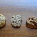 Marzipan Macadamia Cookie,  Chai Chocolate Shortbread, Cherry Almond Cookie